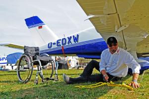 Flugzeug sichern
