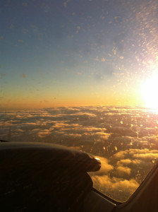 Licht vor Sonnenuntergang