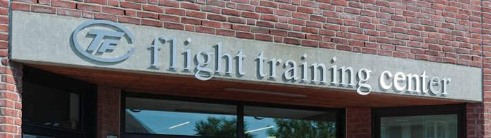 Eingangsbereich zum TFC Flight Training Center in Essen-Kupferdreh